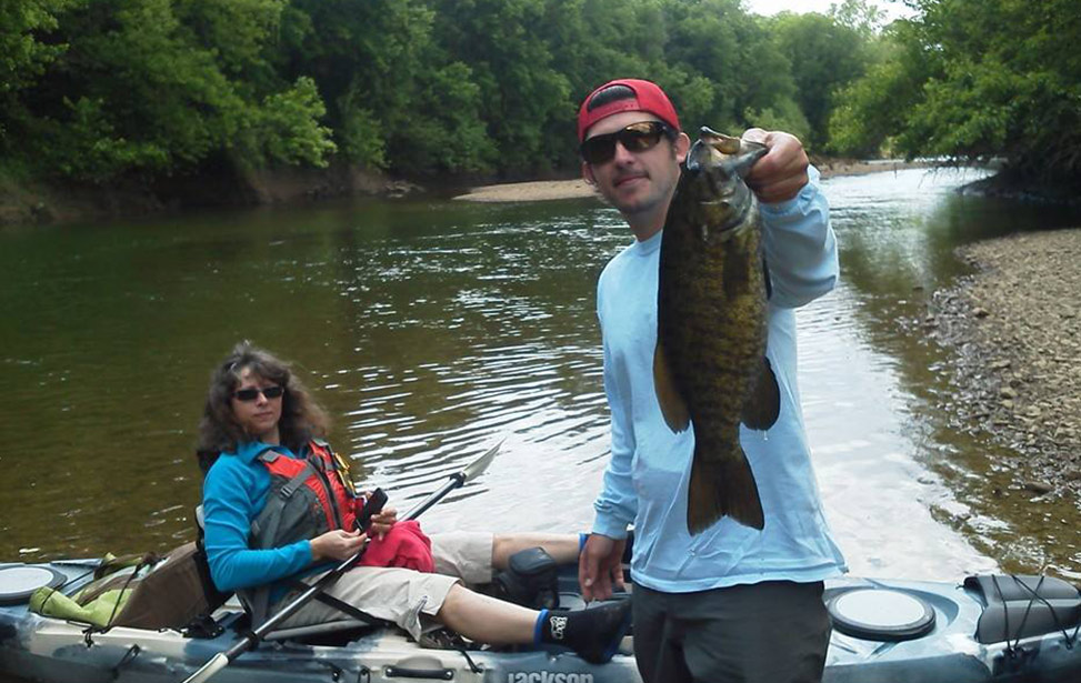 Bass caught on kiski river